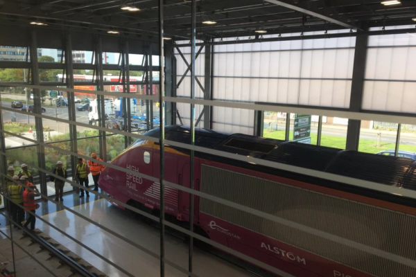 The Train Arrives!