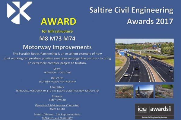 M8 scoops Saltire Award!