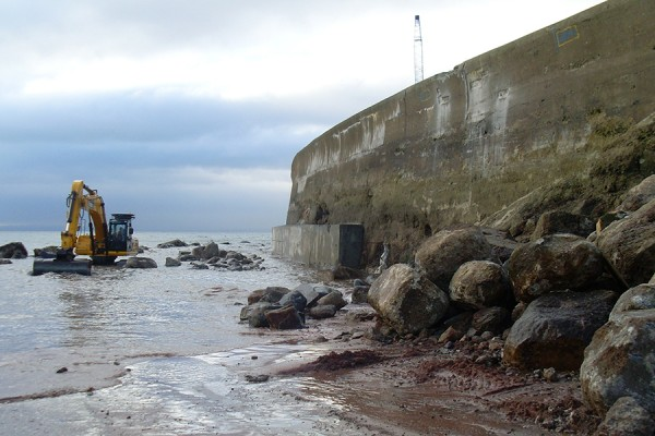 Methil Sea Wall Repairs